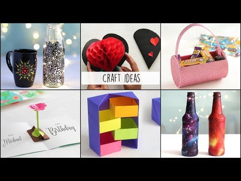 6 Easy Craft Ideas |  Craft Ideas | Ventuno Art