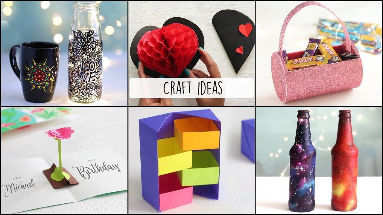 6 Easy Craft Ideas Craft Ideas Ventuno Art Youtube