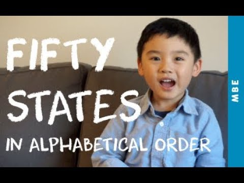 3-Year-Old Ethan Singing Fifty States in Alphabetical Order (lyrics included)