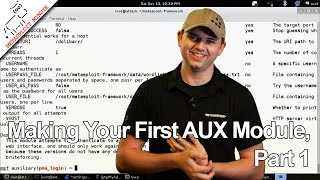 Making Your First AUX Module, Part 1 - Metasploit Minute