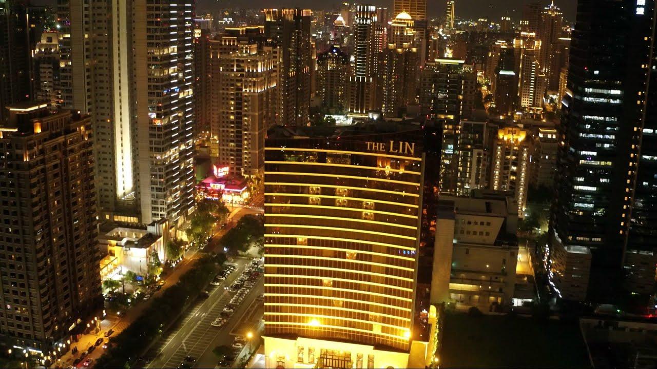 台中夜景4K素材系列:空拍 台中 新市政中心 七期 The Lin Hotel 林酒店  Jun 2016 Niko Studio