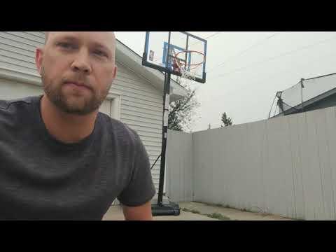 Spalding Polycarbonate Hybrid Lite Portable Basketball System, 48-in - Darrell's Testimonial