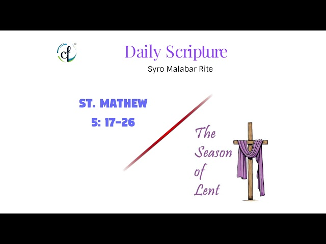 Daily Gospel Reading || Syro Malabar || 24th Feb || Great Lent