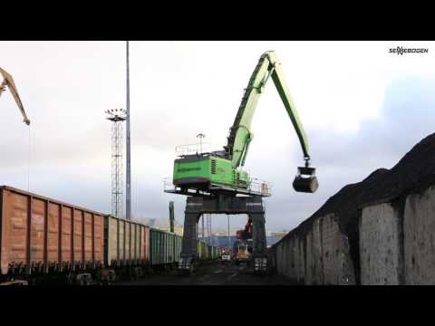 SENNEBOGEN 875 E-Series - Coal Handling at Murmansk Port - Russia