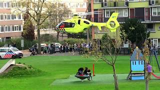 Traumahelikopter Toscalaan Hoogvliet Rotterdam op Woensdag 18-10-2017 om 17.30 uur