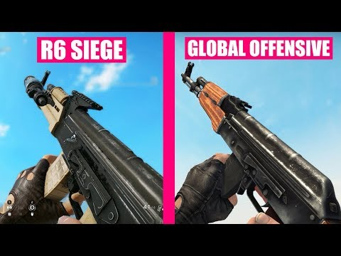 Rainbow Six Siege vs Counter-Strike Global Offensive Weapons Comparison |