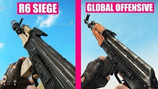 Rainbow Six Siege vs Counter-Strike Global Offensive Weapons Comparison