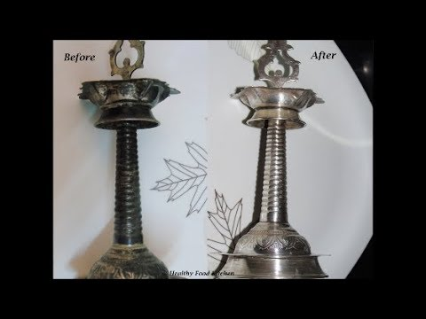 How to clean Silver vessels at home - How to clean Silver Pooja items at  home