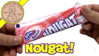 Barratt Natural Nougat Bar, Raspberry & Vanilla Flavour - UK Candy & Snack Tasting