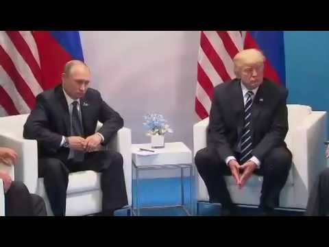 Donald Trump, Vladimir Putin address media at G20 summit in Hamburg
