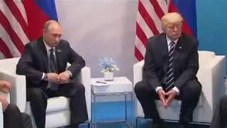 Donald Trump, Vladimir Putin address media at G20 summit in Hamburg