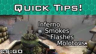 Inferno T Side B Site Smokes, Flashes & Molotovs