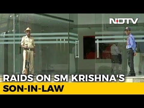 Tax Raids On Former Karnataka Chief Minister SM Krishna's Son-In-law