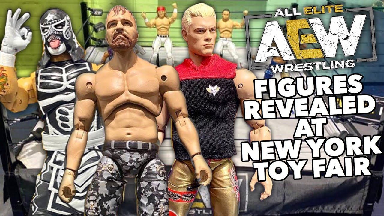 Epic Aew Action Figure Reveals At New York Toy Fair 2020 Youtube