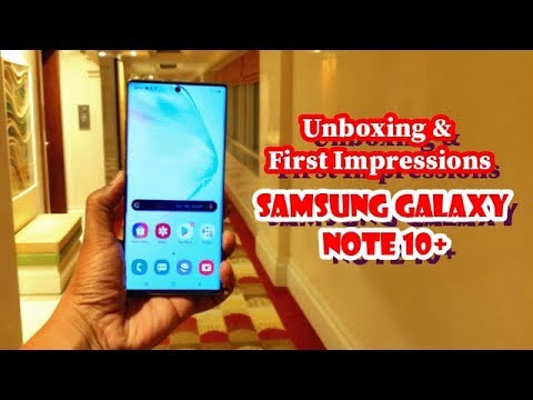 Samsung Galaxy  Note 10+ unboxing & 1st Impression