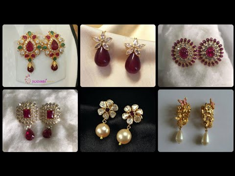 Latest And Stunning 2019 Gold Stud And Gold Pearl Stud Earrings