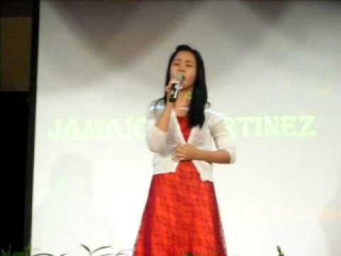 Jamaica Martinez singing Break away