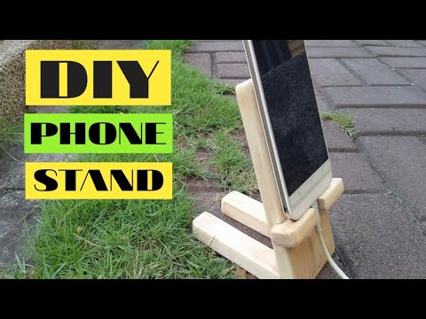 How to make a DIY wooden phone stand from scrap