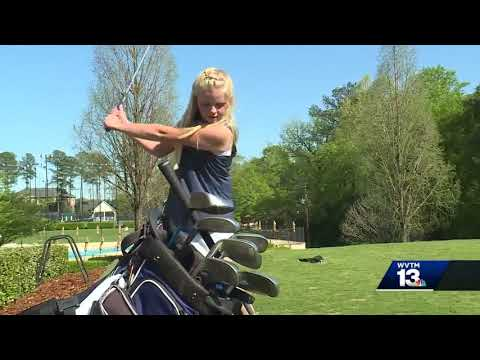 Nine-year-old golfer plays varsity at Tuscaloosa Academy