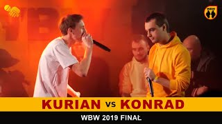 Konrad  Kurian  WBW 2019 Finał (freestyle rap battle)