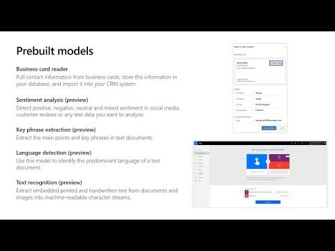 Learn How To Create AI Builder Models And Use Them Across The Microsoft Power   BRK2213