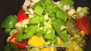 Pork Loin In A Tomato Fresh Basil Vegetable Sauce Mediterranean Food