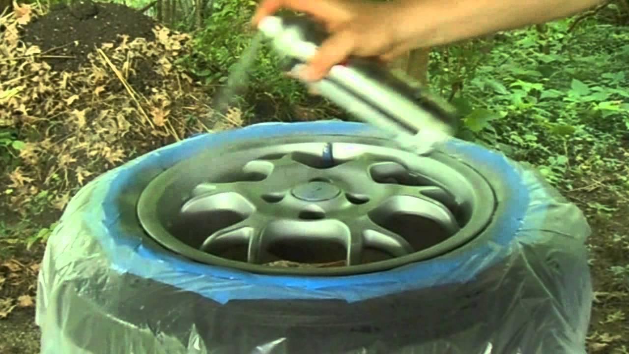 Diy painting aluminum rims with rustoleum auto youtube for Diy rim painting