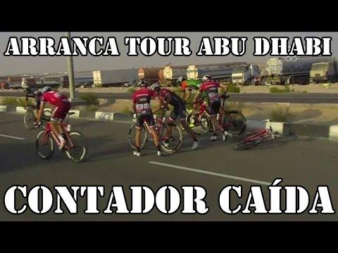 TOUR ABU DHABI 2017 CAÍDA DE CONTADOR, CAVENDISH GANA ETAPA