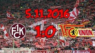 1. FC Kaiserslautern 1:0 1. FC Union Berlin - 5.11.2016 - 3. Sieg in folge!