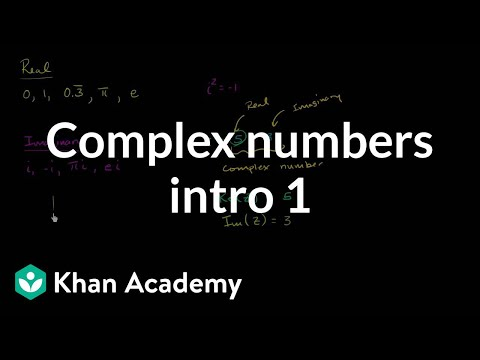Introduction to complex numbers | Imaginary and complex numbers | Precalculus | Khan Academy