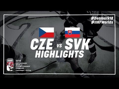 Game Highlights: Czech Republic vs Slovakia May 5 2018   #IIHFWorlds 2018