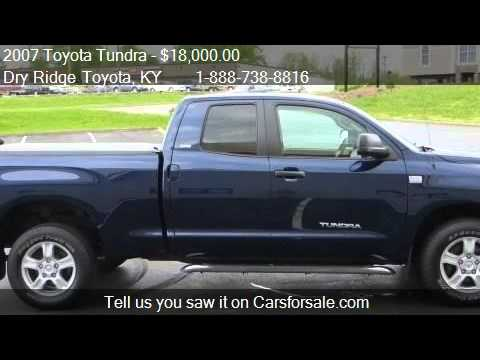2007 toyota tundra sr5 for sale in dry ridge ky 41035. Black Bedroom Furniture Sets. Home Design Ideas