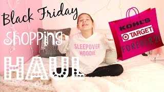 Black Friday Shopping Haul Annie goes to Target, Forever 21, Kohls Shopping for Clothes and Presents