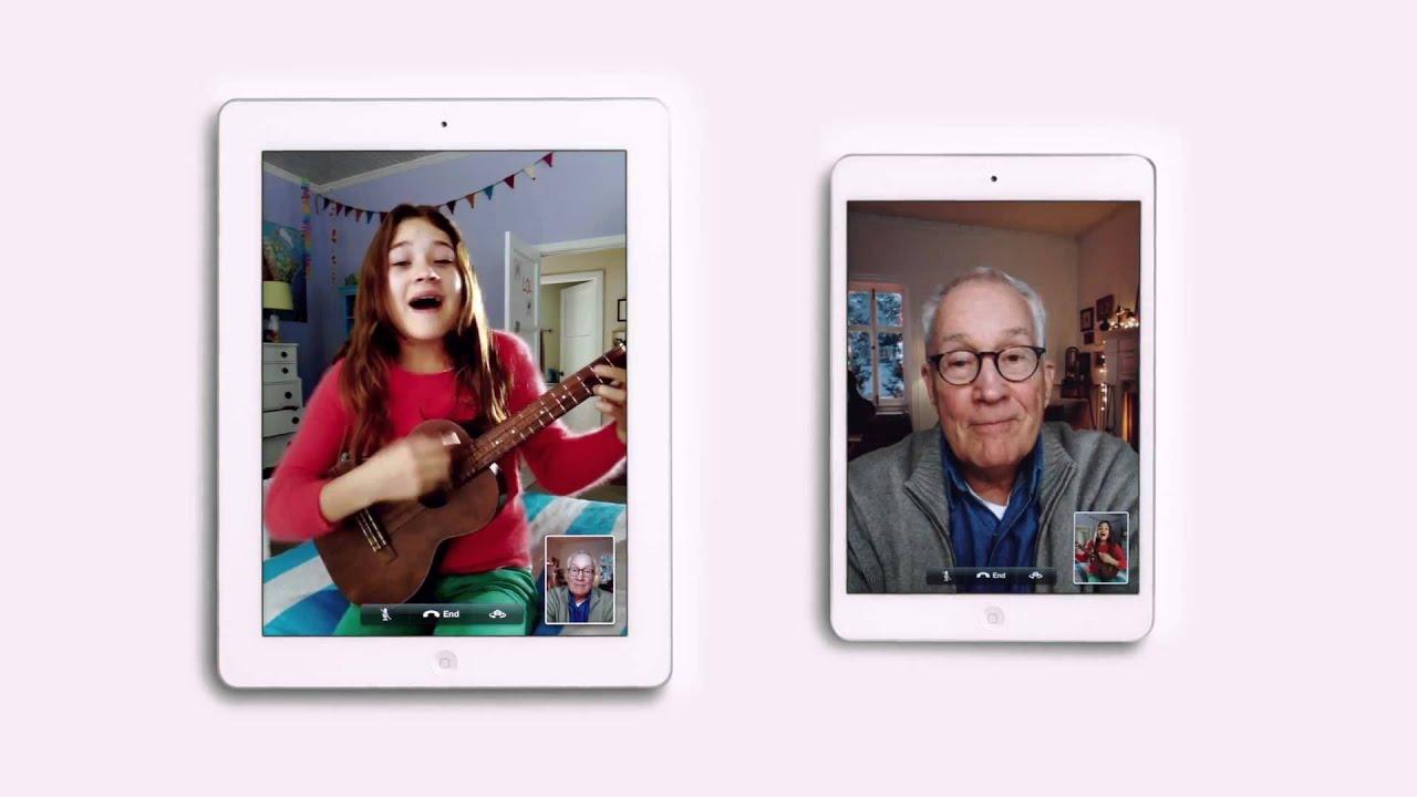 Apple iPad mini TV Ad - I\'ll Be Home For Christmas - YouTube