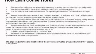What is Lean Coffee and How Can I Work it in as a Project Manager