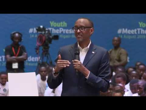 Youth Meet The President |  Remarks by President Kagame | Kigali 14 August  2019 B