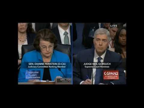 Feinstein Supreme Court Hearing Opening Statement