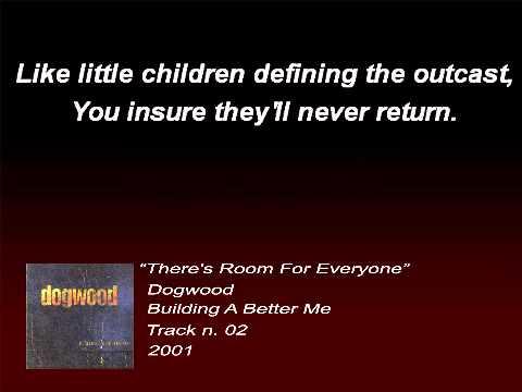 Dogwood - There's Room For Everyone (Lyrics)