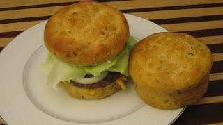 Cheese And Basil Focaccia Buns Bread Recipe (Cook Along Version) Hamburger Bun Recipe