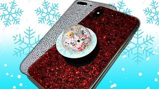Mini SNOW GLOBE PopSocket ❄️ DIY EOS PopSocket
