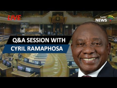 Cyril Ramaphosa answers questions in the National Assembly