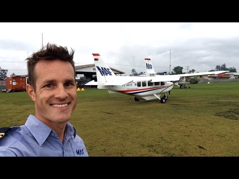 Missionary flying for MAF in Papua New Guinea