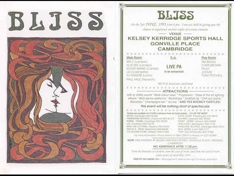 Bliss Rave - June 1st 1991, Kelsey Kerridge Sports Hall, Cambridge Full Video