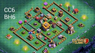 LAYOUT CASA DO CONSTRUTOR NIVEL 6 CC6/BH6/TH6 - BASE DO CONSTRUTOR - CLASH OF CLANS