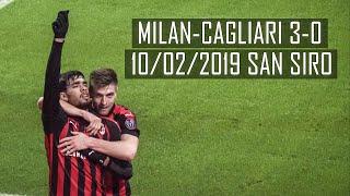 [4k]Milan-Cagliari 3-0 LIVE Primo Anello Blu 10/02/2019
