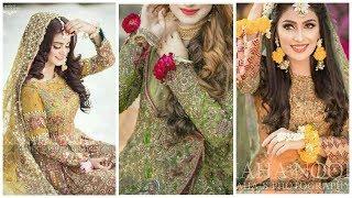 Top Trendi Gorgeous & Stylish Mayoo Mahendi bridal wear Dresses