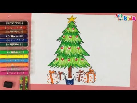 How To Draw A Christmas Tree For Kids Painting For Kids Art For