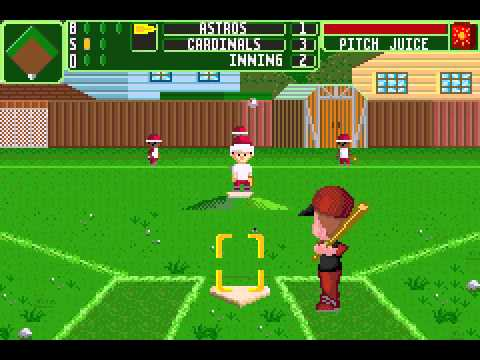 Charming Backyard Sports   Baseball 2007 (GBA)   Vizzed.com Play