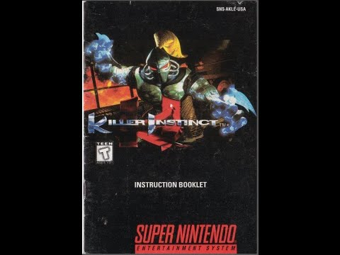 killer instinct 1994 game manual snes instruction booklet rh youtube com snes game manual scans snes game manual scans