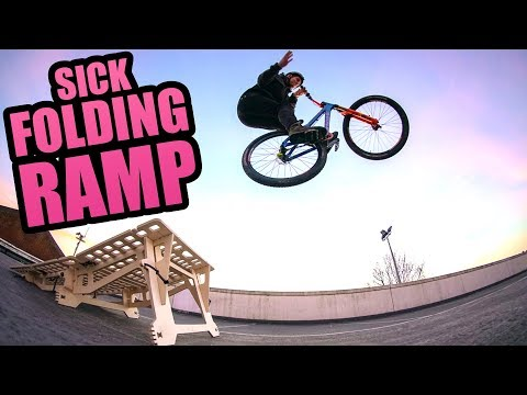 97db78722953 SICK FOLDING MTB RAMP! - YouTube